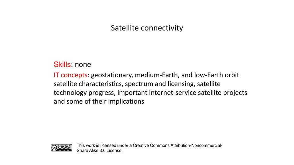 Satellite connectivity