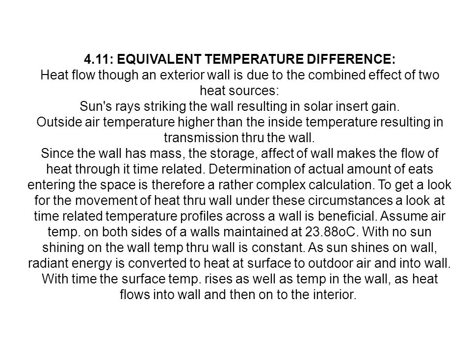 4.11: EQUIVALENT TEMPERATURE DIFFERENCE: