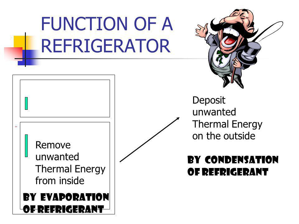 FUNCTION OF A REFRIGERATOR