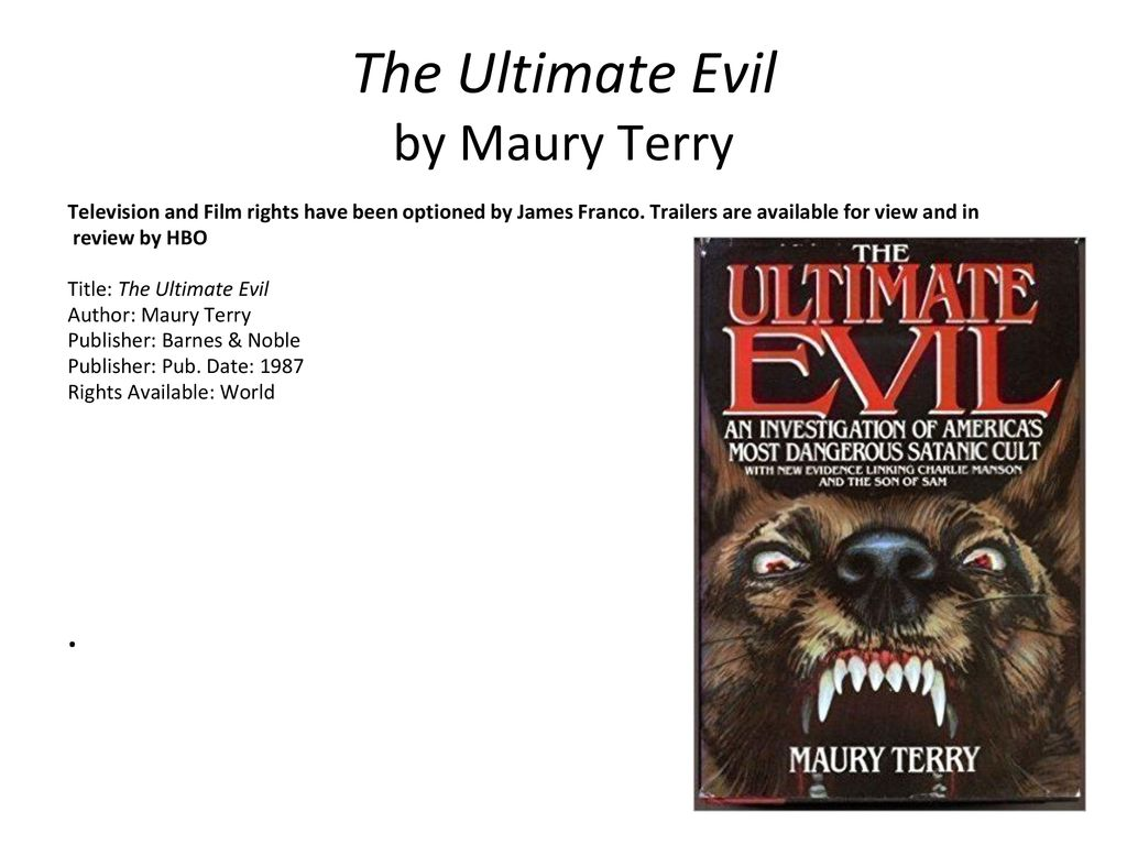 the ultimate evil maury terry