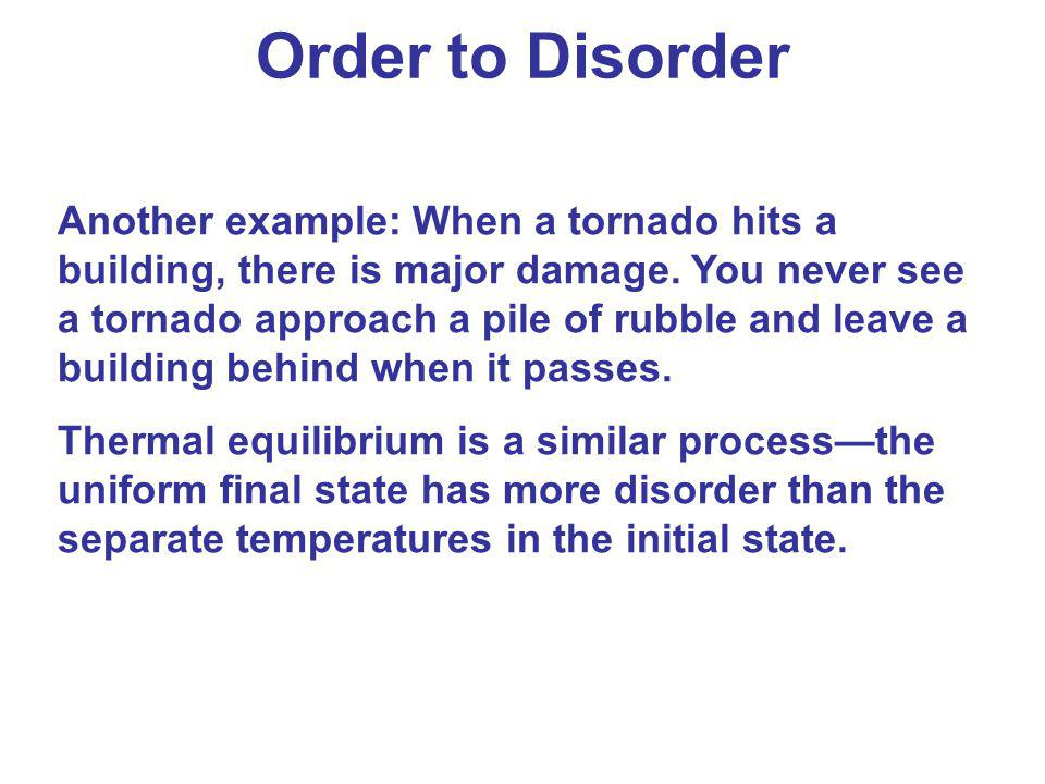 Order to Disorder