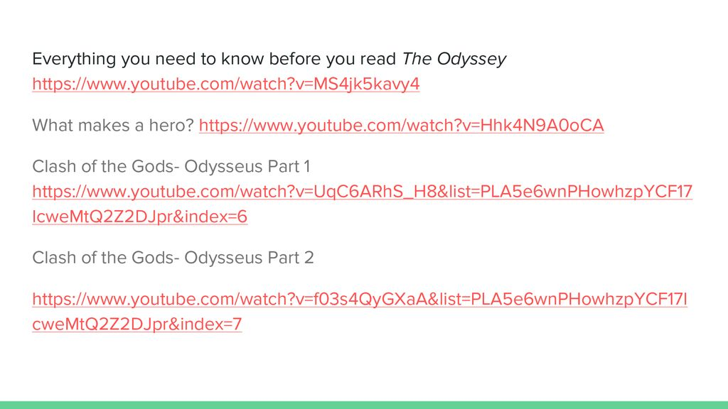 The Odyssey Lesson ppt download