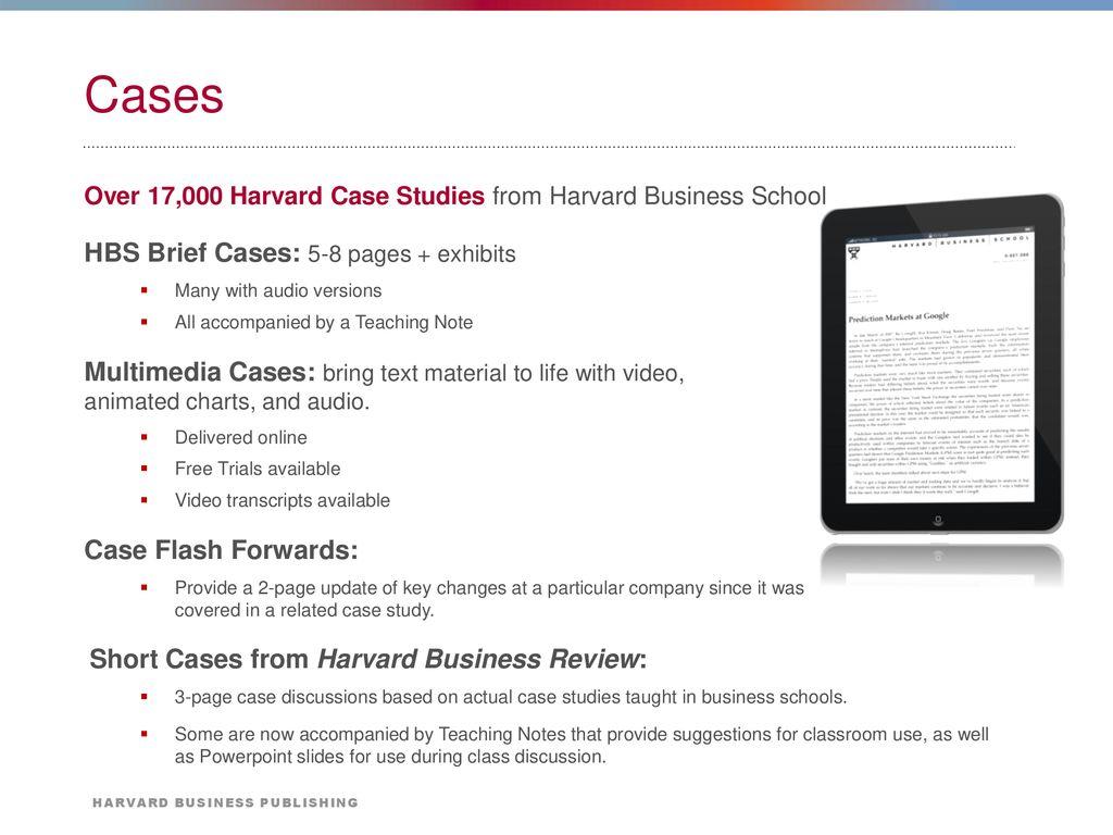 harvard business review case studies