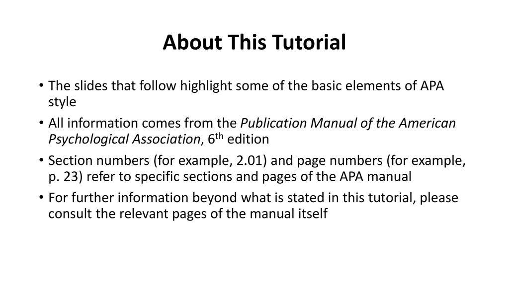 apa basics a tutorial prepared by cheryl kashuba writing specialist