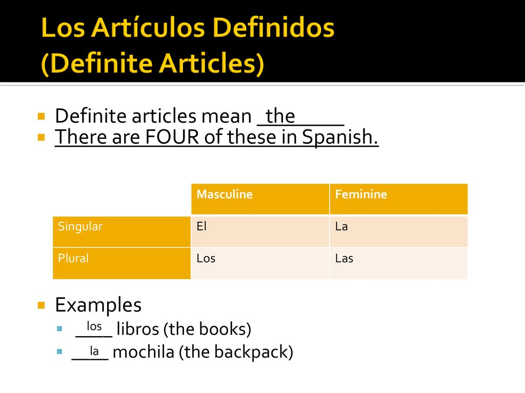 gender, number, and articles in spanish - ppt download