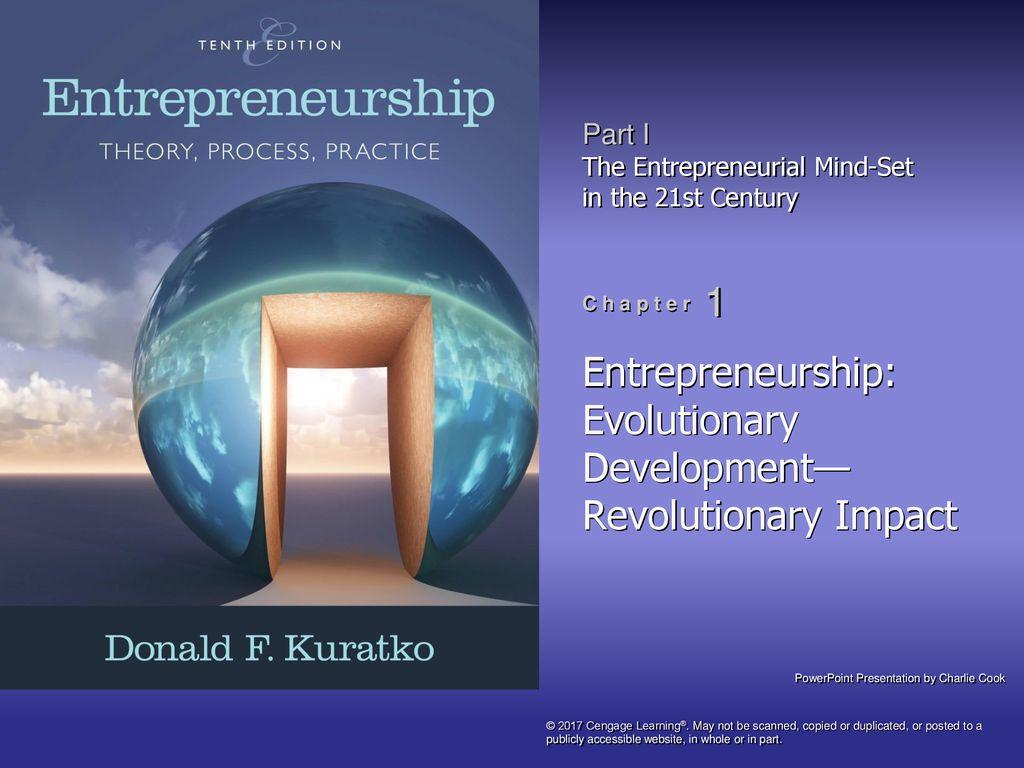 Entrepreneurship Evolutionary Development Revolutionary Impact
