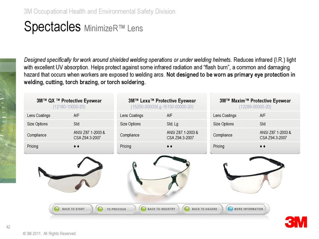 4cc59f8b07 Protective Eyewear–Product Selection Guide - ppt download