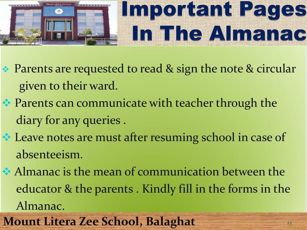 Mount Litera Zee School Balaghat Ppt Download