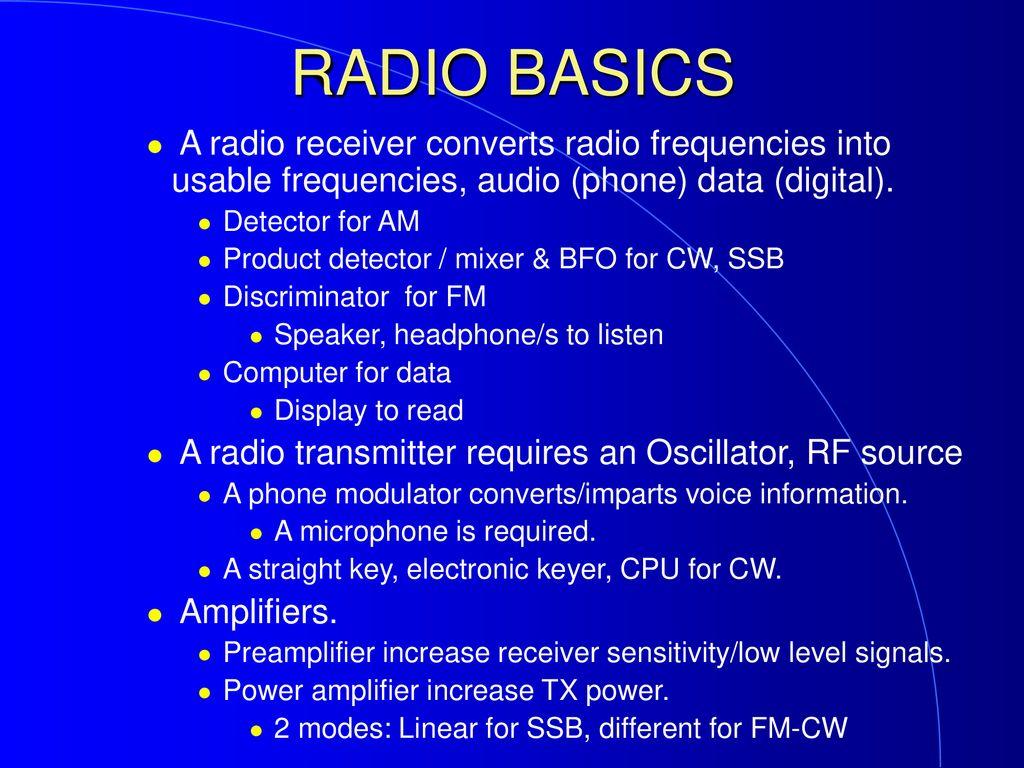 Ham Cram Amateur Radio Technician License Review Course Ppt Download Am Cw Bands Transmitter 53