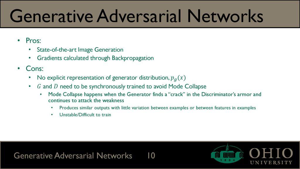 Generative Adversarial Networks (GANs) - ppt download