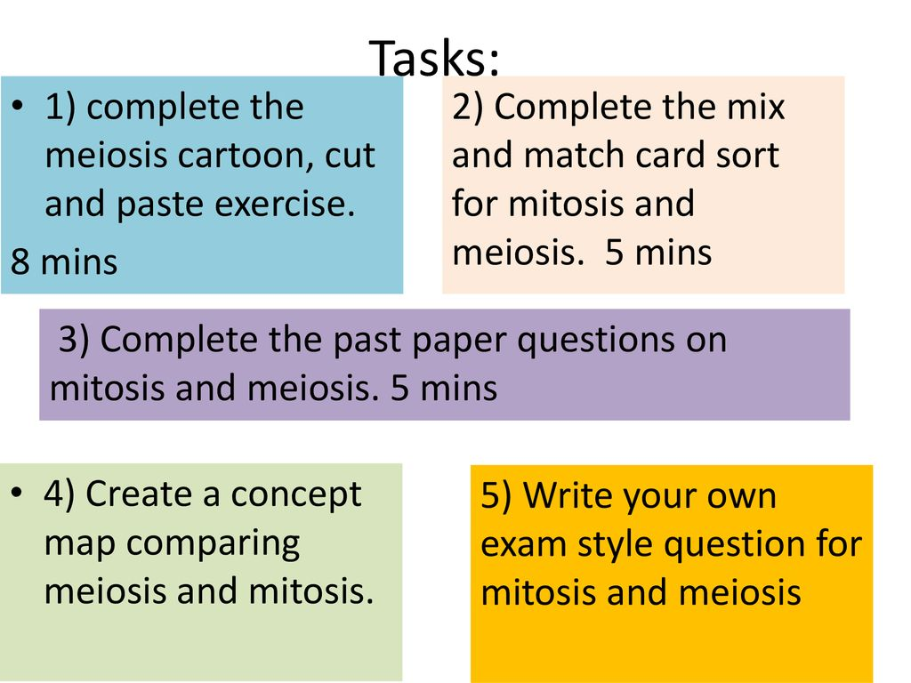 Complete The Concept Map Comparing Mitosis And Meiosis Answers.What Is Meiosis And Why Is It Important In Reproduction Ppt Download