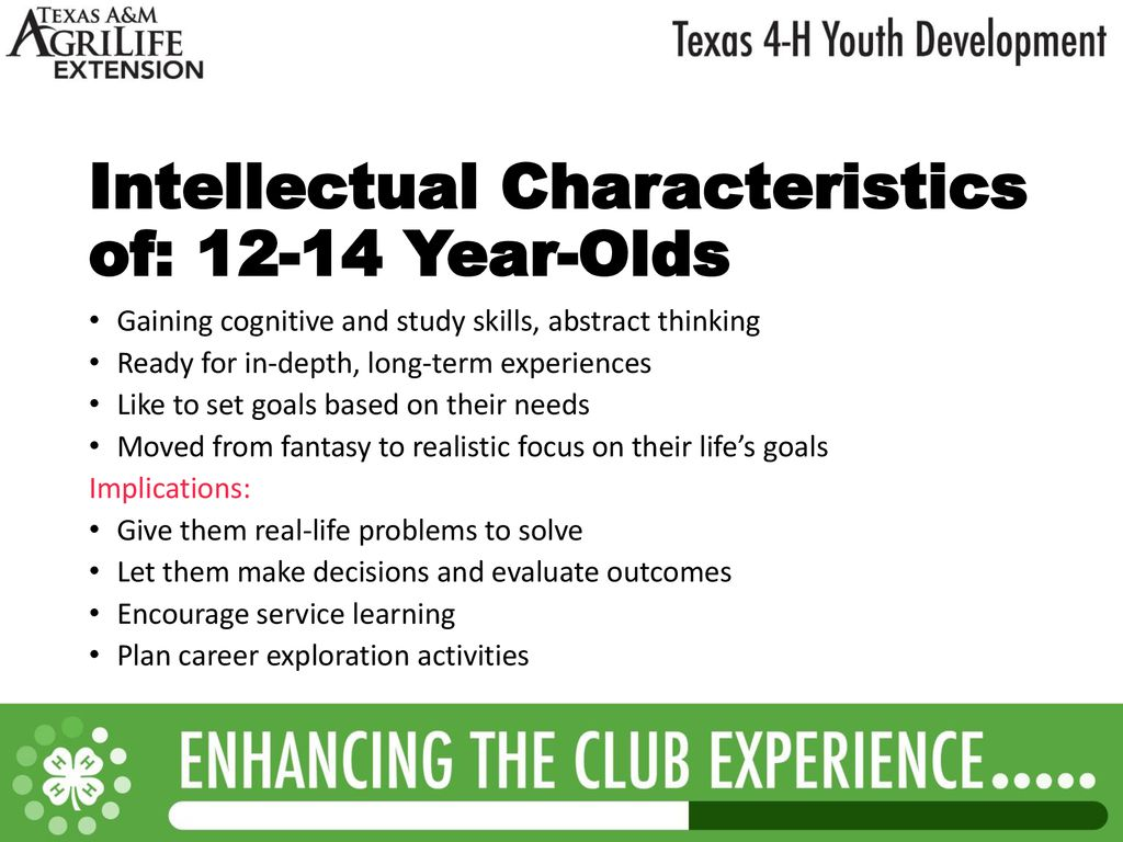 Texas 4 H Ages Stages Of Youth Development Ppt Download