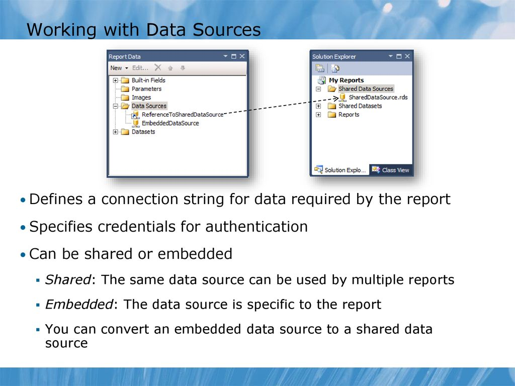 Module 2: Implementing Reports with SQL Server Reporting