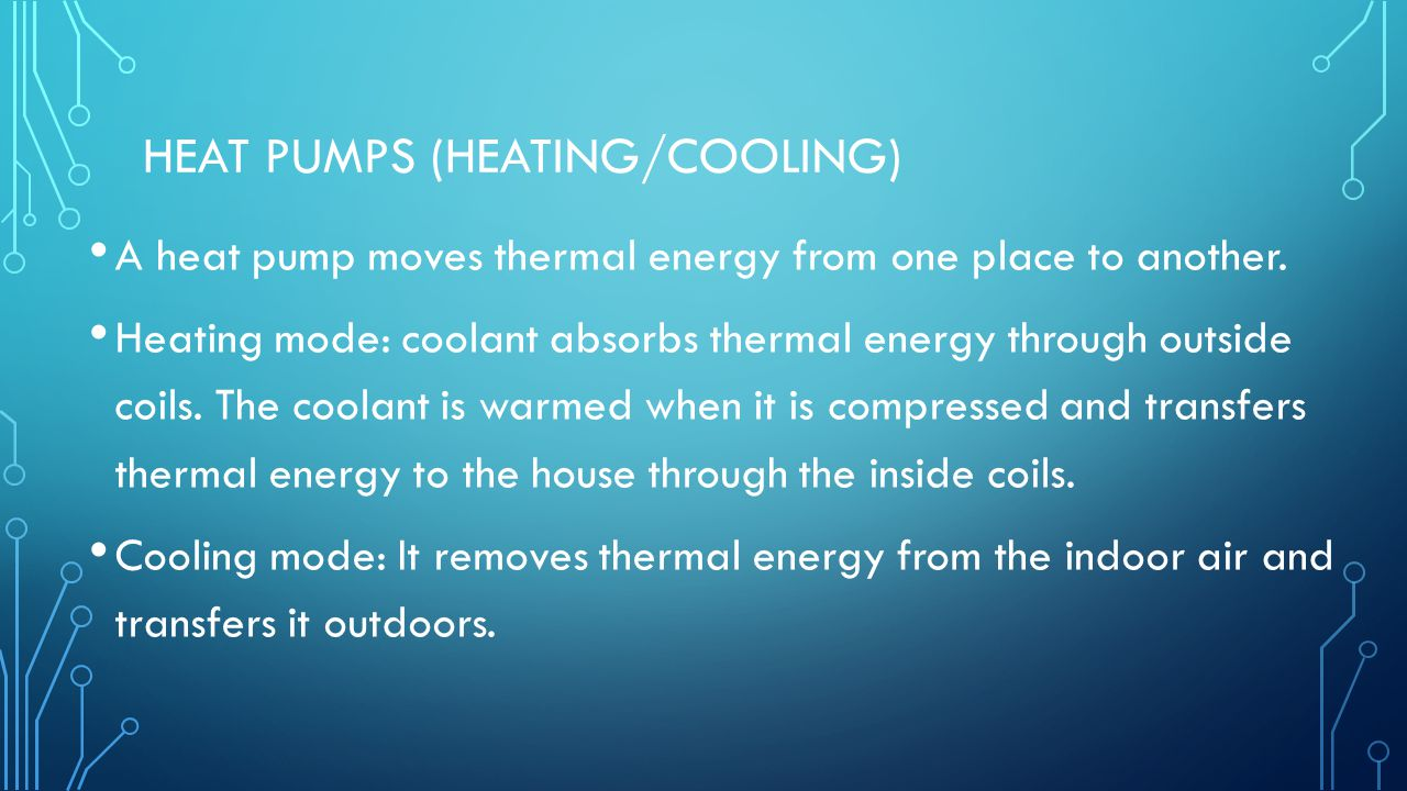 Heat Pumps (heating/cooling)
