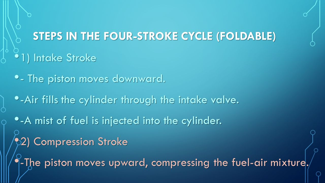 Steps in the Four-Stroke Cycle (foldable)