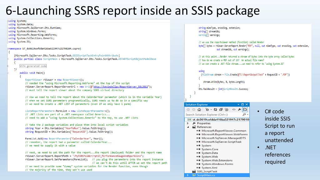 SQL Server Reporting Services (SSRS) For Application Developers
