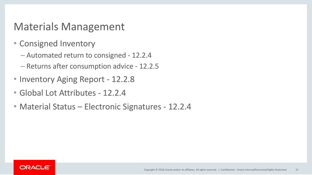Oracle E-Business Suite: Oracle Warehouse Management - ppt