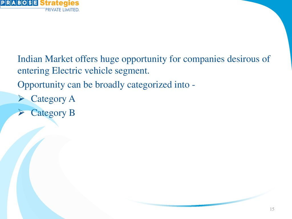 Consulting Services for Electric Mobility Business - ppt