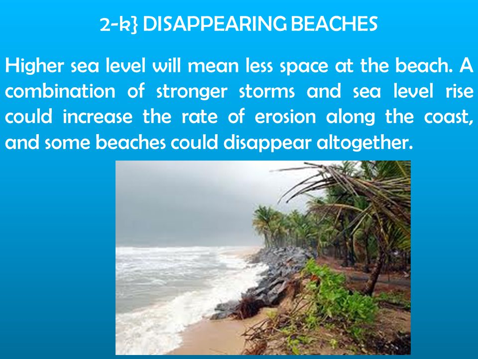 2-k} DISAPPEARING BEACHES