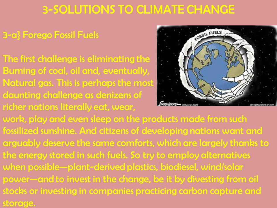 3-SOLUTIONS TO CLIMATE CHANGE