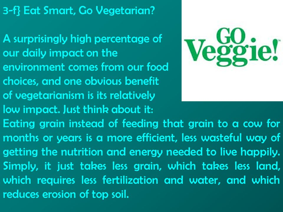 3-f} Eat Smart, Go Vegetarian