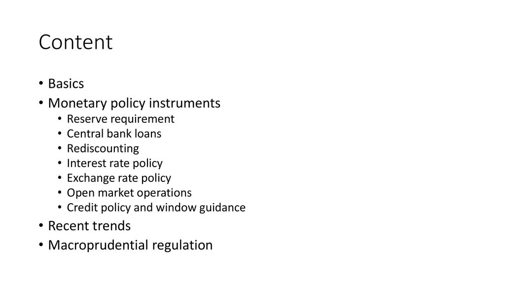 instruments of credit policy