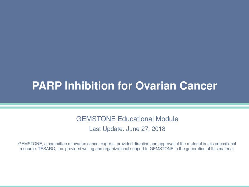 Parp Inhibition For Ovarian Cancer Ppt Download