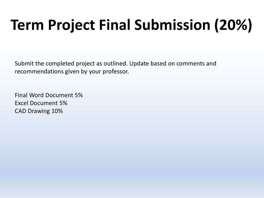 CAD Term Project  - ppt download