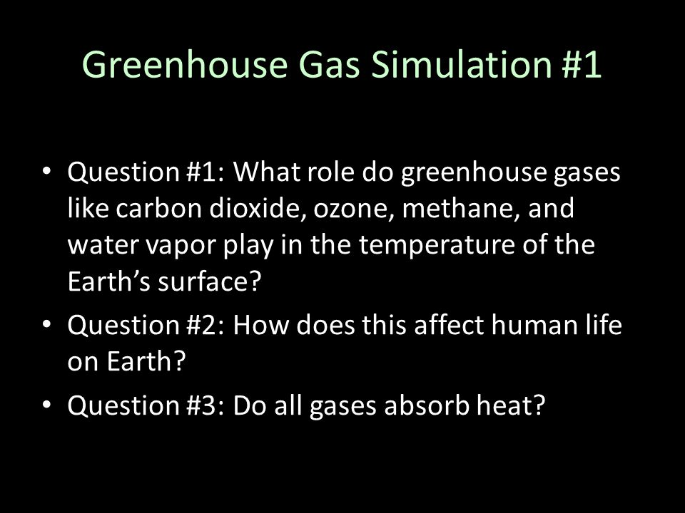 Greenhouse Gas Simulation #1
