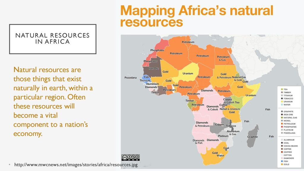 Map Of Africa Natural Resources.Natural Resources In Africa Ppt Download