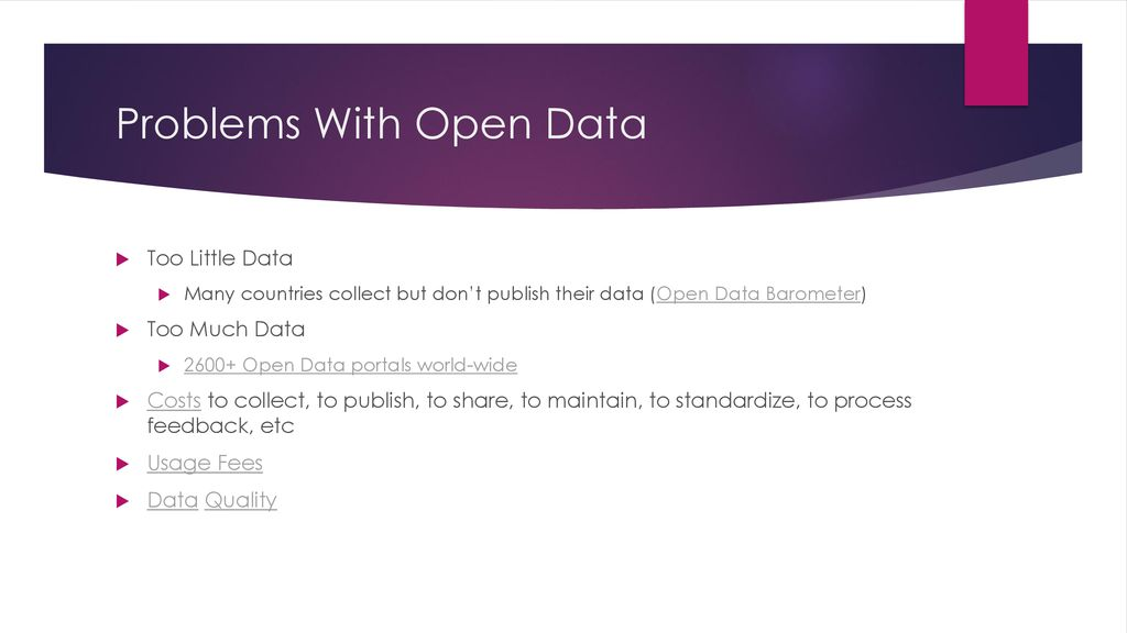 What Is Open Data? codeone ppt download