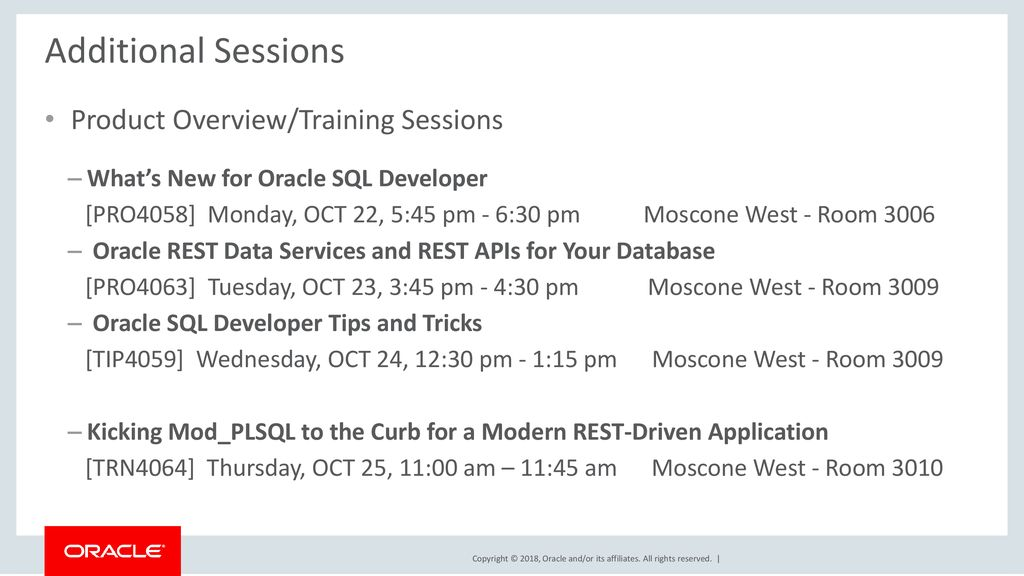 Build a Web App with Oracle REST Data Services & - ppt download