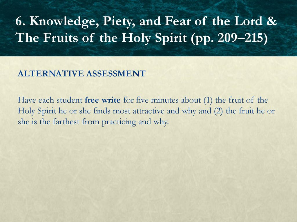 Chapter 6: The Holy Spirit Third Person of the Blessed