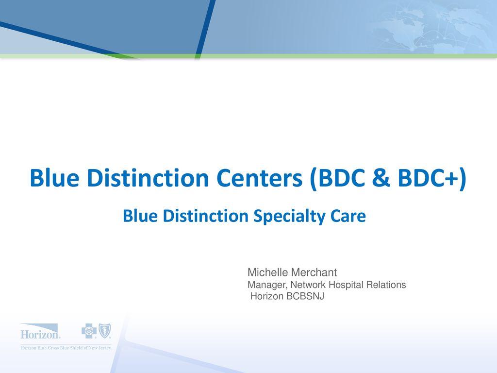 Michelle Merchant Manager, Hospital Relations, Horizon BCBSNJ - ppt