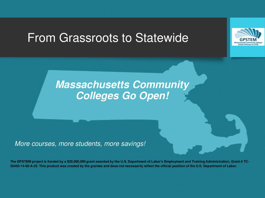 From Grassroots to Statewide Massachusetts Community Colleges Go Open!
