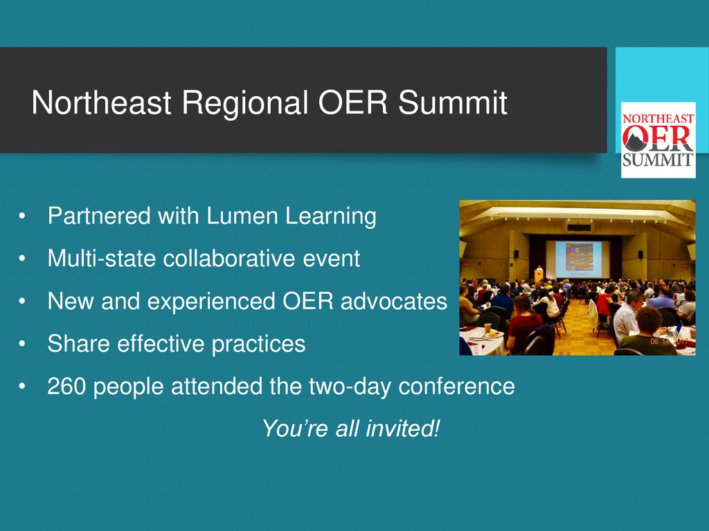 Northeast Regional OER Summit