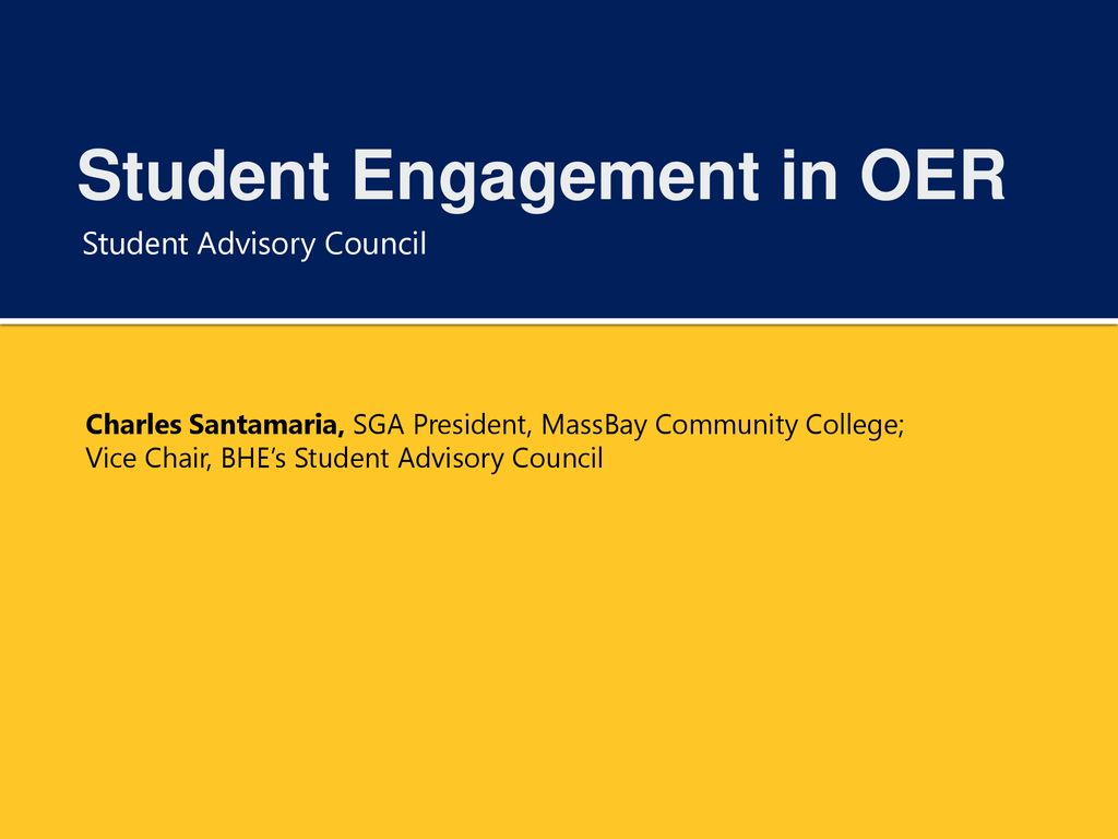 Student Engagement in OER