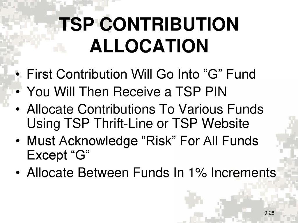 INVESTING/THRIFT SAVINGS PLAN (TSP) - ppt download