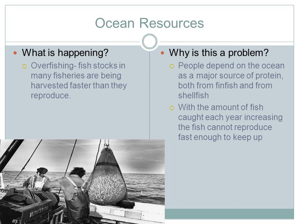 Ocean Resources What is happening Why is this a problem