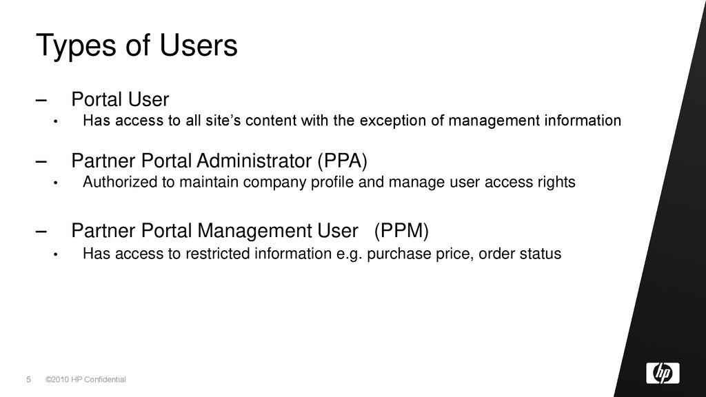 NA HP Partner Portal Tour - ppt download