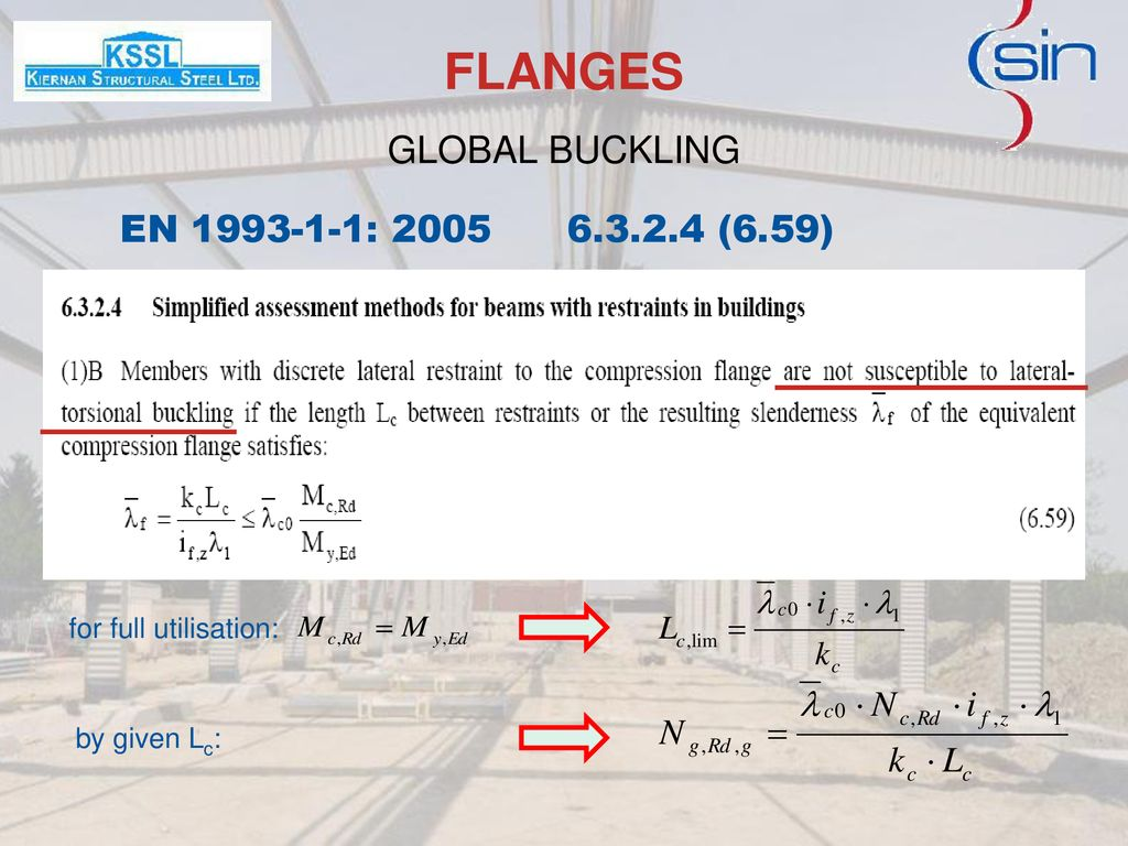 FLANGES GLOBAL BUCKLING EN : (6.59)