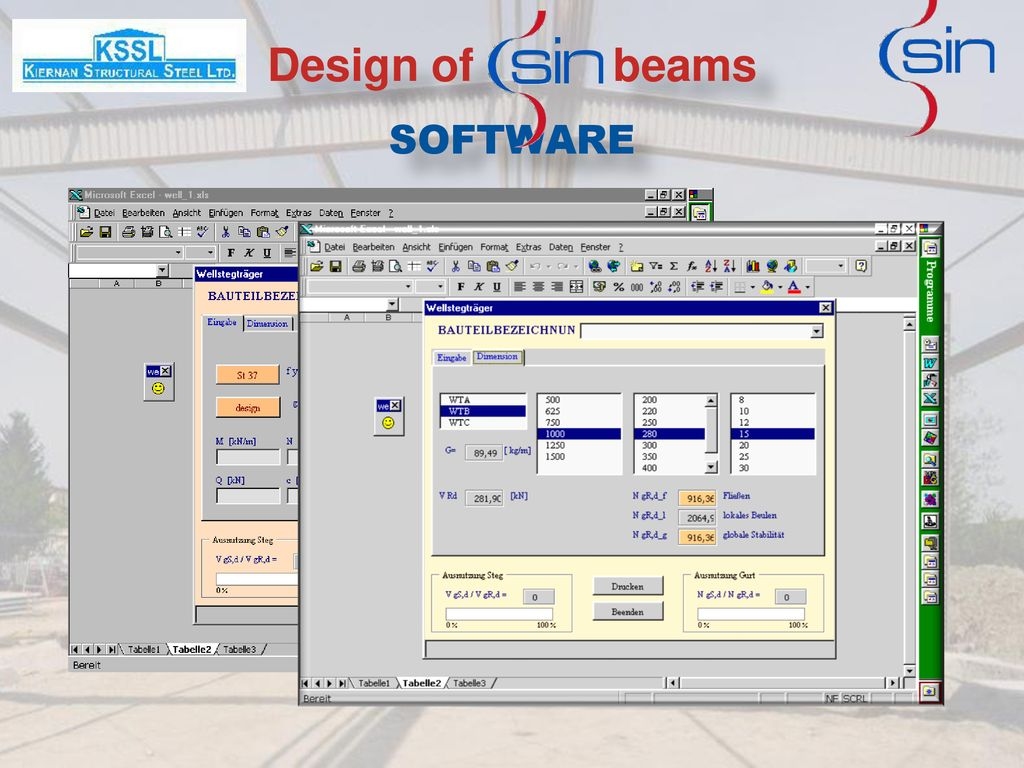 Design of beams SOFTWARE