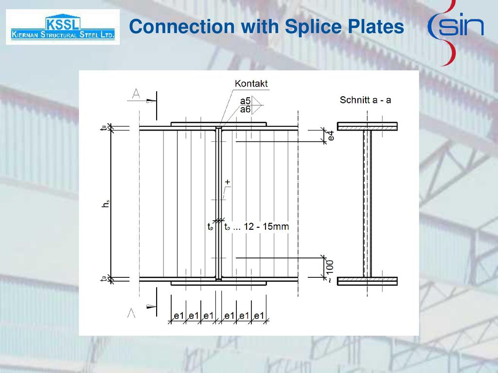 Connection with Splice Plates