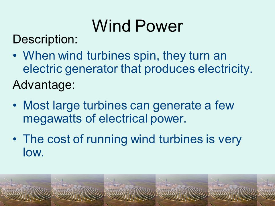 Wind Power Description: