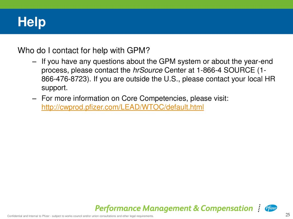 Pfizer Performance Management Process - ppt download