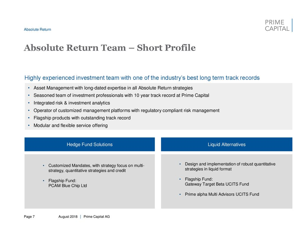 Prime Capital AG Company Profile - ppt download