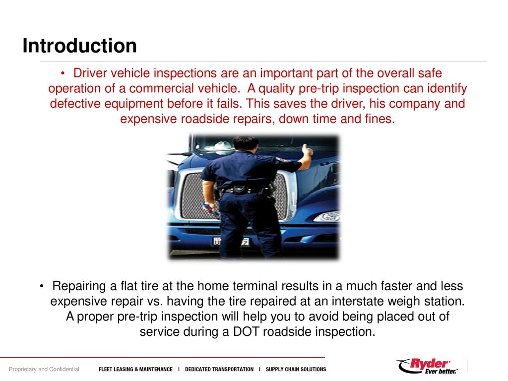 pre/ post trip inspections - ppt download