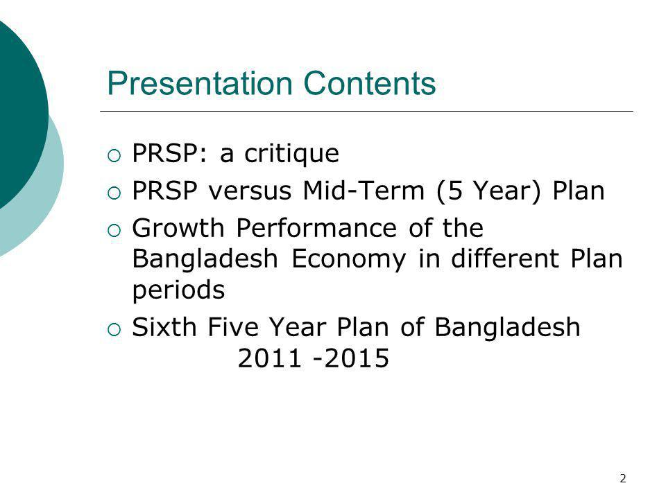 Sixth Five Year Plan of Bangladesh ( ) - ppt download