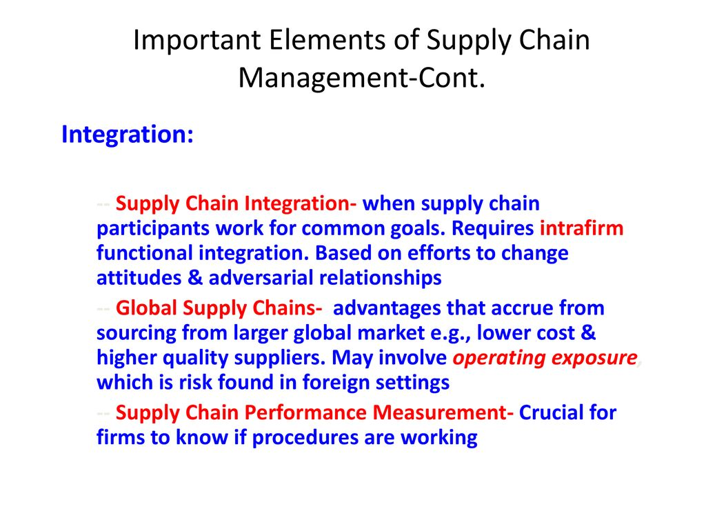 Introduction to Supply Chain and Logistics Management - ppt