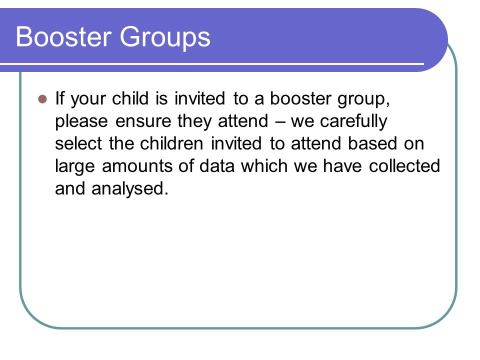 Booster Groups